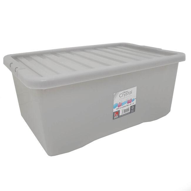 Crystal Box & Lid 45L - Slate