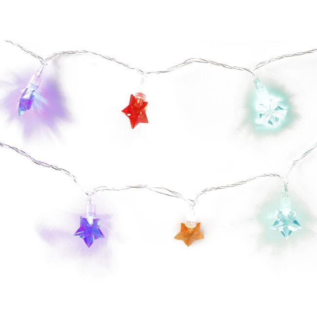 20 Star Flashing LED Lights Multicolour