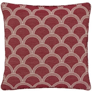 Geo Jacquard Cushion 45x45cm - Berry