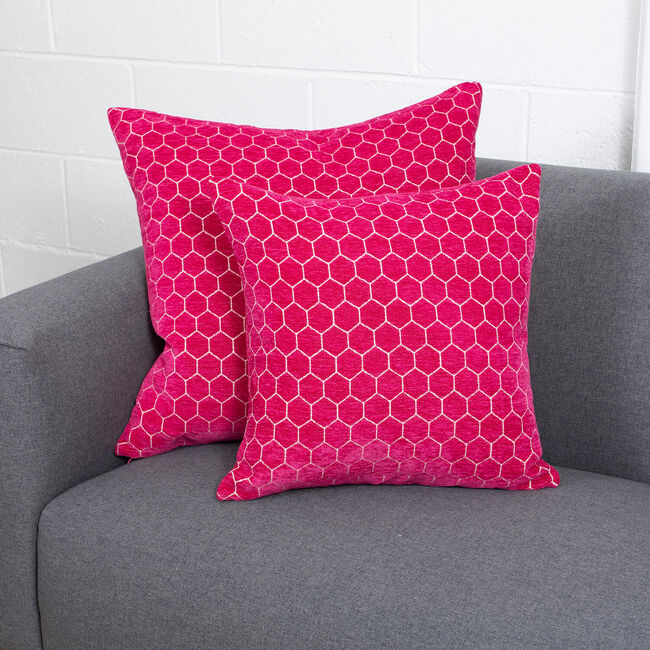 Honeycomb Cushion 58x58cm - Pink