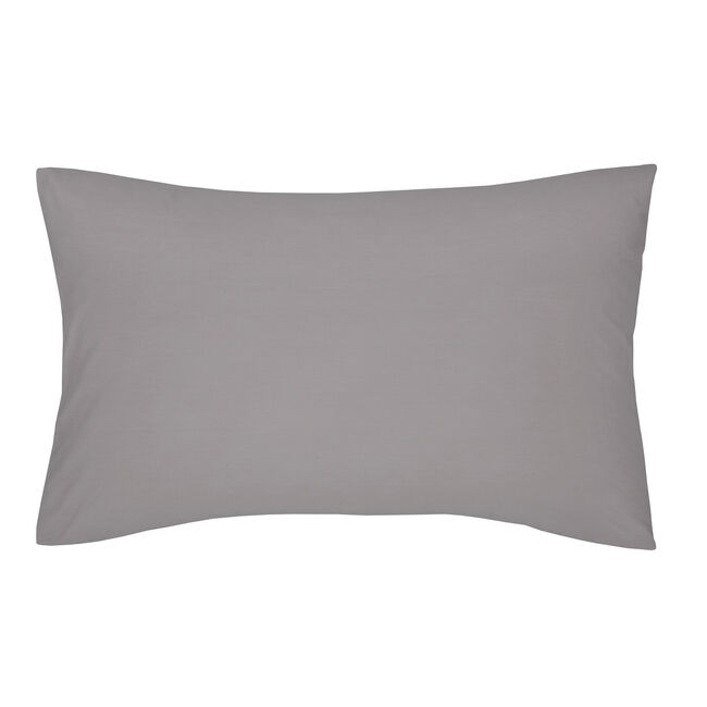 Percale Grey Housewife Pillowcases
