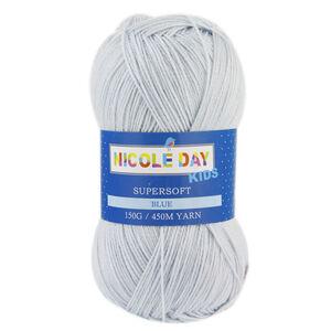 Nicole Days Kids Supersoft Blue Yarn