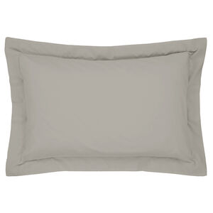 Luxury Percale Grey Oxford Pillowcase Pair
