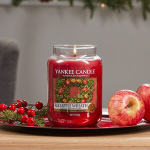 Yankee Candle Red Apple Wreath Large Jar