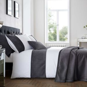SINGLE DUVET COVER Ribeiro Velvet Grey