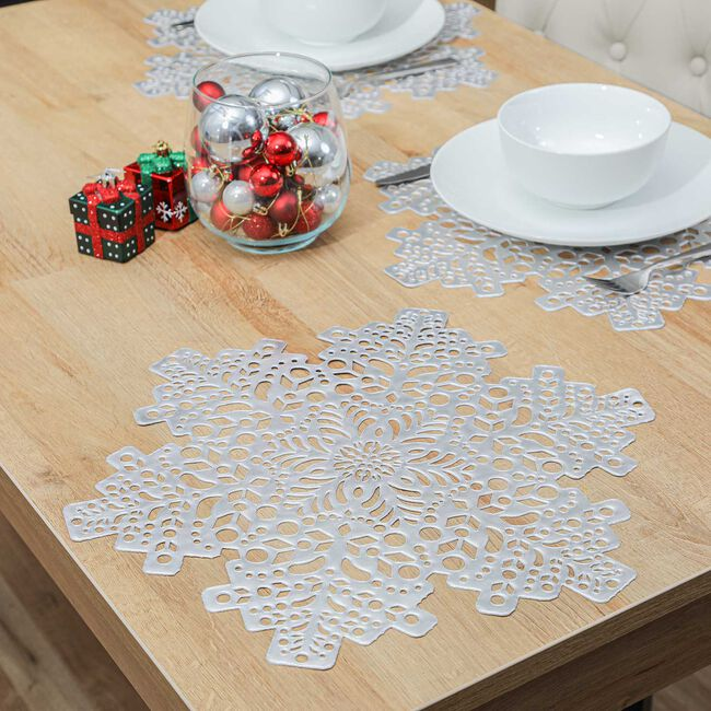 Snowflake Placemat - Silver