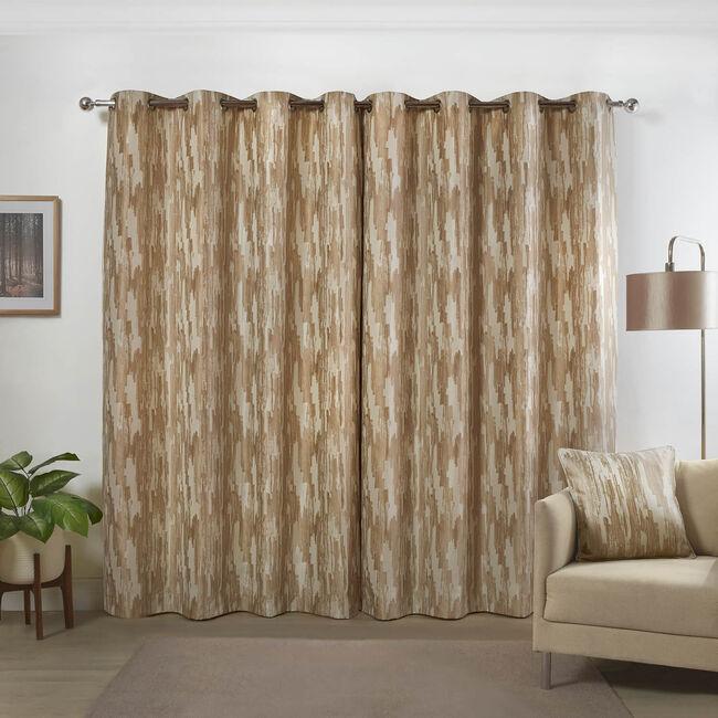 ETCH NATURAL 66x72 Curtain