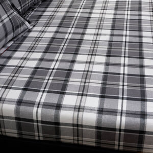 BRUSHED COTTON PATCHWORK STAG Single Fitted Sheet