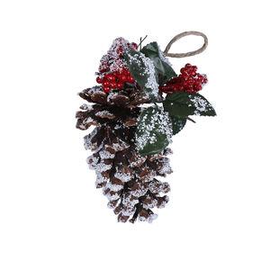 Christmas Pinecone with Snow