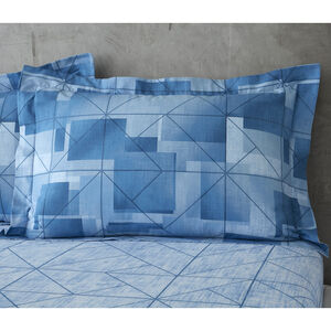 Joey Oxford Pillowcase Pair - Blue