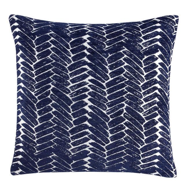 Night Peacock Cushion 45x45cm - Navy