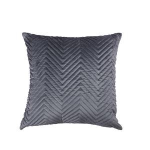 Triangle Stitch Cushion 45x45cm - Grey