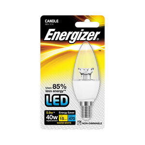 Energizer E14 LED Candle Bulb Clear 59W (EQ40W)