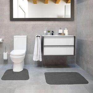 Cotton Plain Dye Steel Bathroom Set