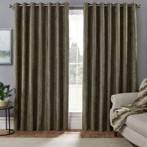 BLACKOUT & THERMAL HERRINGBONE GREEN 90x90 Curtain