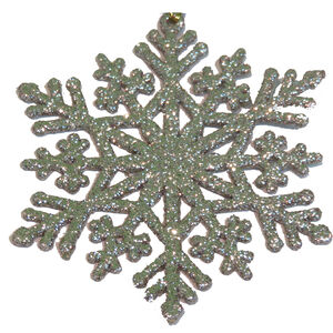 Gold Glitter Snowflake Ornament