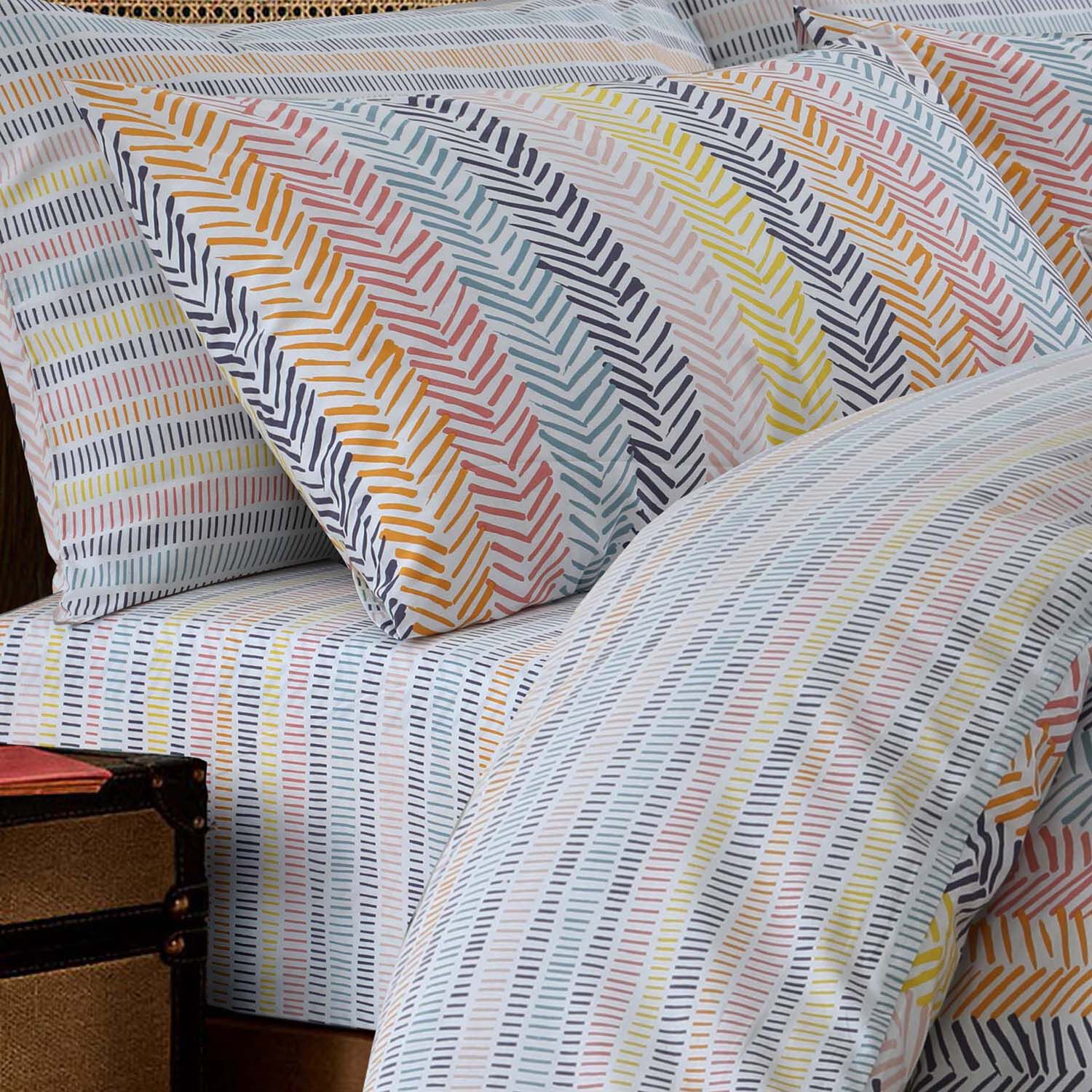 Linear Sunburst Fitted Sheet