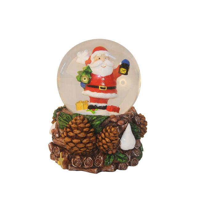 Santa Snow Globe With Music
