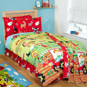 FARMER AND FRIENDS Junior Bed Fitted Sheet