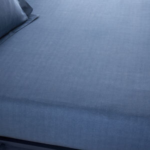 ARMADILLO SCALE NAVY Single Fitted Sheet