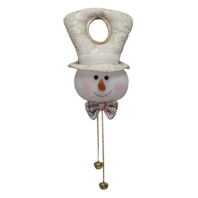 Plush Snowman Door Hanger - Gold