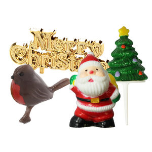A Merry Little Christmas Cake Toppers