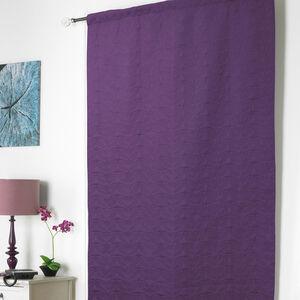 Embossed Thermal Plum Door Curtain