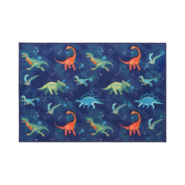 Space Dinosaurs Childrens Floor Mat 80 x 120cm