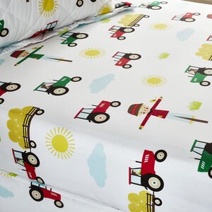 FARM FRIENDS Double Fitted Sheet
