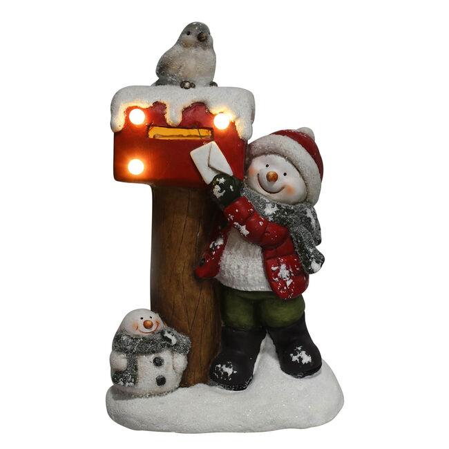 Lightup Snowman Posting Letter to Santa - 40cm