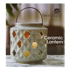 Heritage Grey Ceramic Lantern