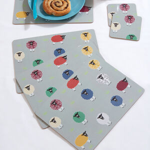 Sheep Mats & Coasters 4 Pack