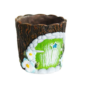 Fairy Door Plant Pot - Green