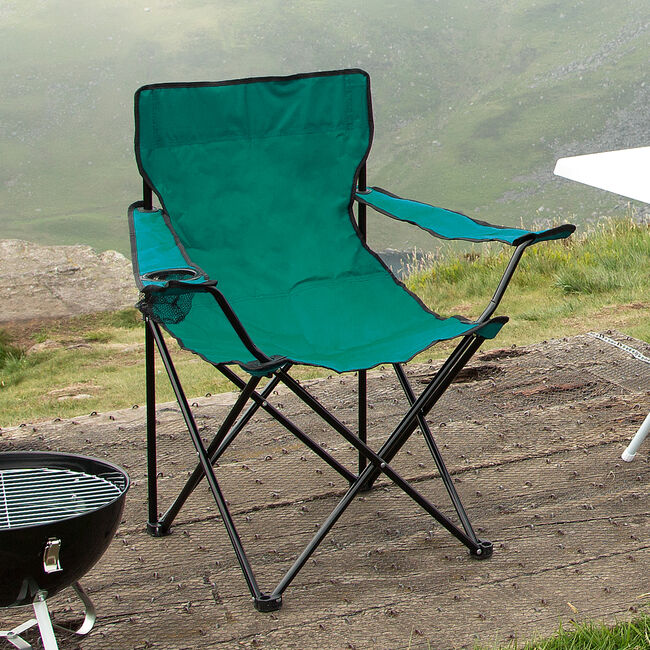 Folding Armchair With Cupholder