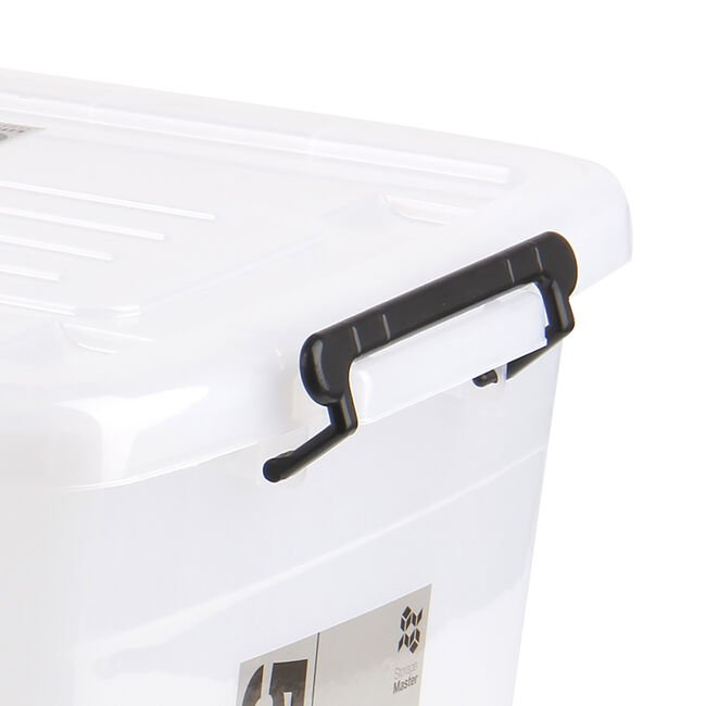 Rolling Storage Container 55L - Clear