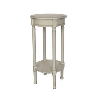 Lyle Round Accent Table 38X38X72CM White