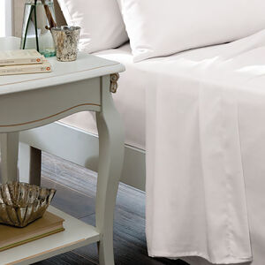 SINGLE FLAT SHEET Luxury Percale White