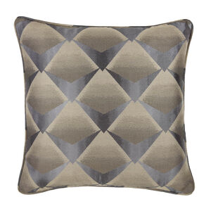Deco Fan Cushion 58 x 58cm - Charcoal