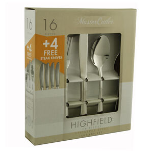 Highfield Cutlery Set with 4 Free Steak Knives
