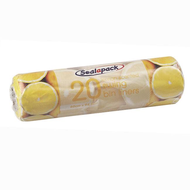 Sealpack Lemon 20 Swing Bin Liners 60x95cm
