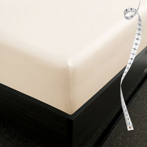 DB FITTED SHEET 800 Threadcount Cotton Cream