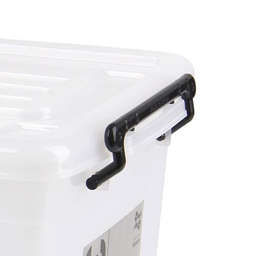 Rolling Storage Box 32L - Clear