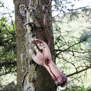 Bloody Hand on Cleaver Hook