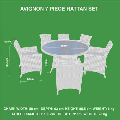 Avignon 7 Piece Rattan Set