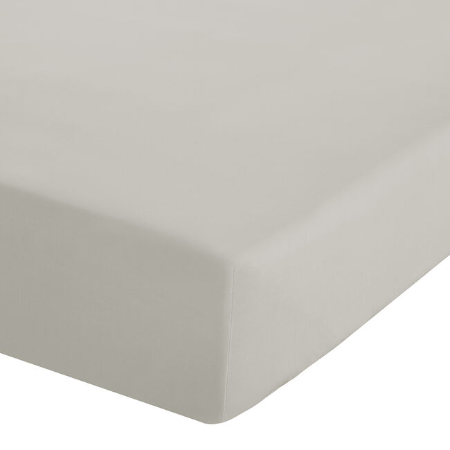 SINGLE FITTED SHEET Luxury Percale Cream