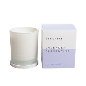 Serenity 10Oz Lavender Clementine Scented Candle