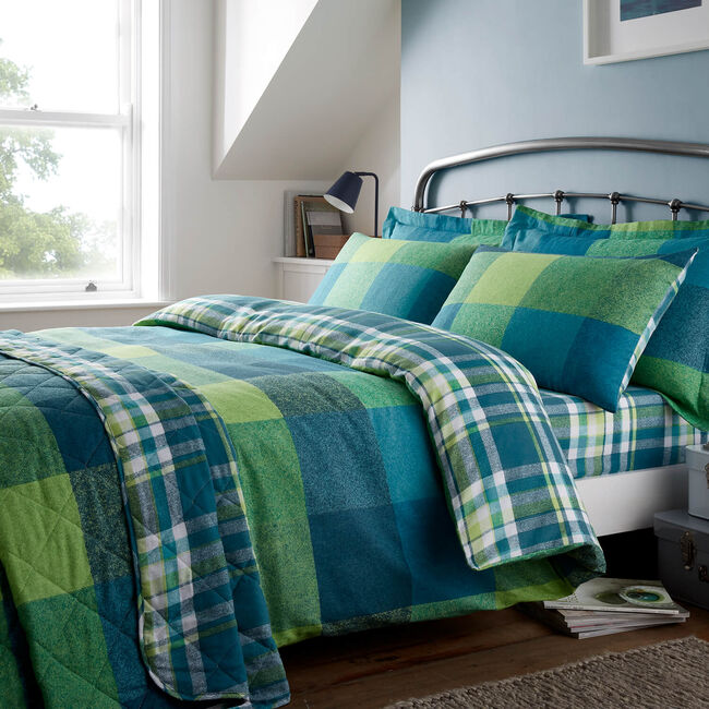 SUPER KING DUVET COVER Brushed Cotton Harry Check
