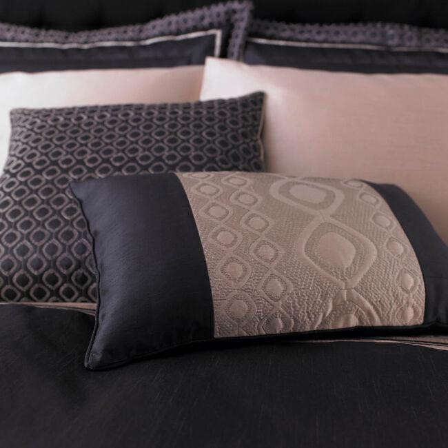 Luxury Geo Natural Cushion 30cm x 50cm