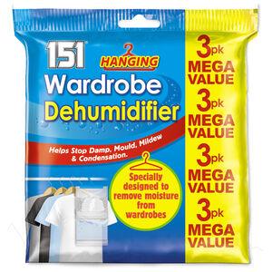 3 Pack Hanging Wardrobe Dehumidifier