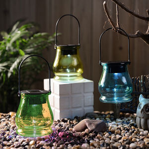 Coloured Glass Jar Solar Light